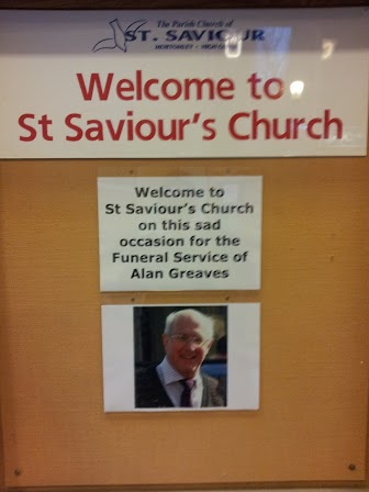 Alan Greaves Funeral