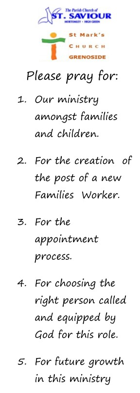 Families Worker Prayer Card