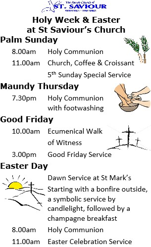 HW & Easter Services 2015