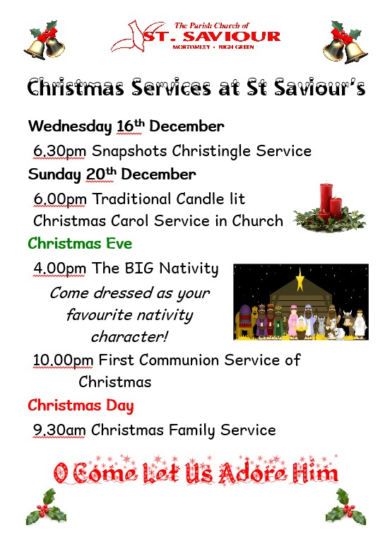 SSC Christmas Services 2015 Poster 1