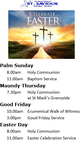 SSC Holy Week and Easter Services 2016